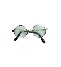 Amigurumi Gözlük Şeffaf Altın Sarı  Çerçeve