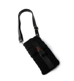 Siyah Teddy Kadın Çapraz Çanta, Cüzdan & Telefonluk