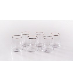 Stella Plus - 6 Li Meşrubat Bardağı Platin
