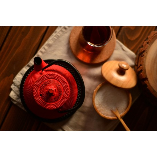 Linden Sümbül Kırmızı Döküm Demlik 300 ml