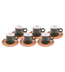 Harem Kahve Fincan Takımı Yakut 6 Kişilik