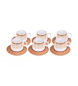 Ottoman Kahve Fincan Takımı Altın Desenli 6 Kişilik