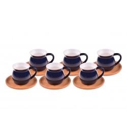 Selam Kahve Fincan Takımı Mavi 6 Kişilik