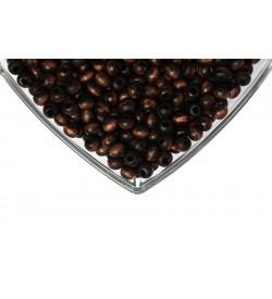 Ahşap Boncuk 8 mm 1 Kg Koyu Kahve