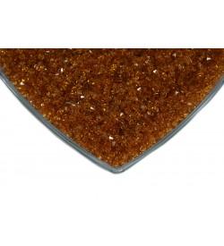 Kristalize Prizma Akrilik Boncuk Açık Pudra