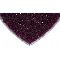 Kristalize Prizma Akrilik Boncuk Koyu Mor