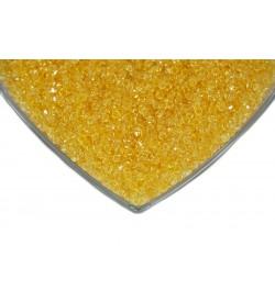 Kristalize Prizma Akrilik Boncuk Koyu Sarı
