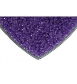 Kristalize Prizma Akrilik Boncuk Lila