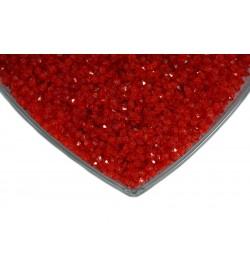 Kristalize Prizma Akrilik Boncuk Koyu Kırmızı