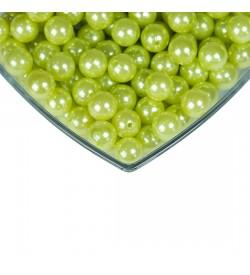 Plastik İnci - 14 mm Açık Yeşil