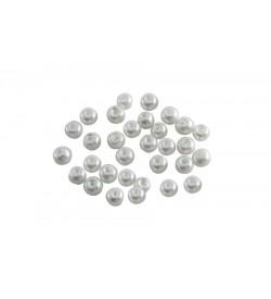 Kırık Beyaz Cam İnci 4 mm