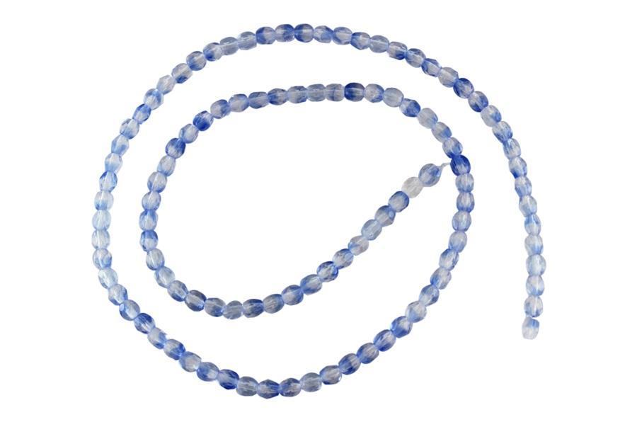 Mavi Çek Kristal Boncuk 4 mm
