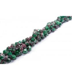 Bordo-Yeşil Renk Köşeli Doğal Akik Taşı