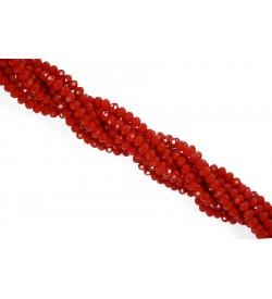 Kırmızı Kristal Boncuk 4 mm