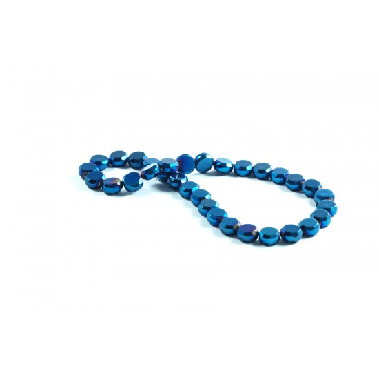 Kristal Boncuk 10 mm Safir Mavi