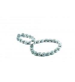 Kristal Boncuk 10 mm Gümüş