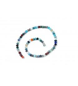 Karışık Renkli Kristal Boncuk Dizisi 8mm