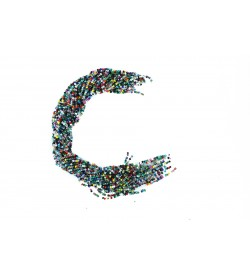 Karışık Renkli Kristal Boncuk Dizisi 4mm