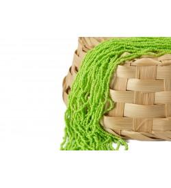 Çimen Yeşili Rengi Kum Boncuk Dizisi