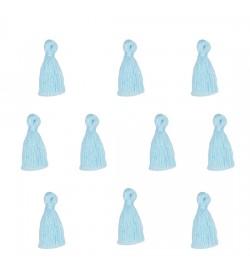Buz Mavisi Mini Takı Püskülü