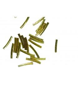 Burgu Desenli Sarı Metal Boru Aparat
