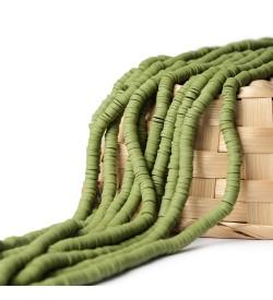 Asker Yeşili Fimo Boncuk Dizisi 6 mm
