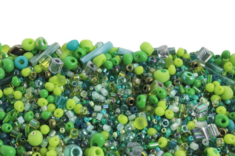 Miyuki Yeşil Tonları Karışık Boncuk