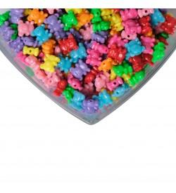 Parlak Renkli Ayıcık Figürlü Plastik Boncuk