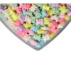Karışık Renkli Ayıcık Figürlü Plastik Boncuk