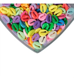 Parlak Renkli Deniz Kabuğu Plastik Boncuk
