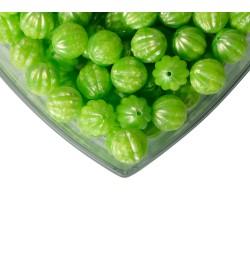 Yeşil Renk Yuvarlak Plastik Boncuk