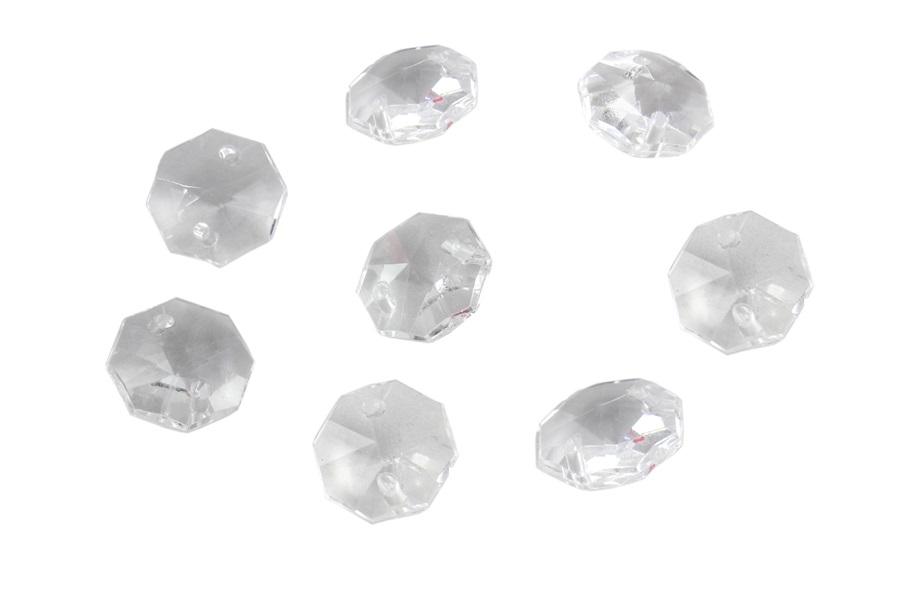 Octagon Kristalize Plastik Avize Taşı