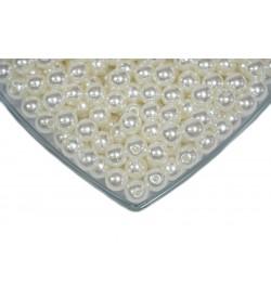 Plastik İnci - 6 mm - Kırık Beyaz