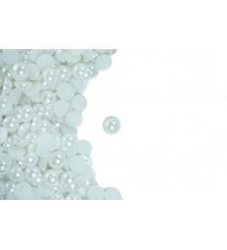 Beyaz Delikli Yarım İnci 8 mm