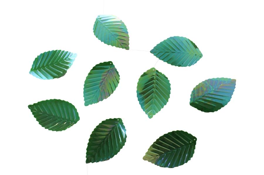 Büyük Yanardöner Yeşil Yaprak Pul