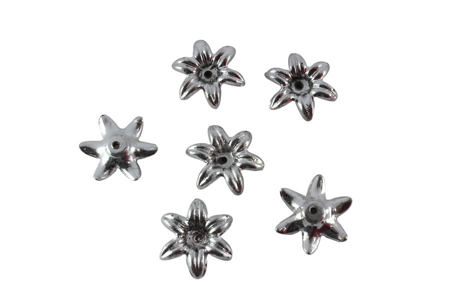 Gümüş Renk Çiçek Boncuk
