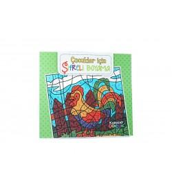 Çocuklar İçin Şifreli Boyama Kitabı Set-01 Karatay Yayınları
