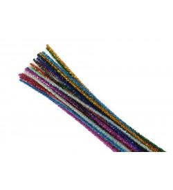 Karışık Renkli Simli Şönil 30 cm