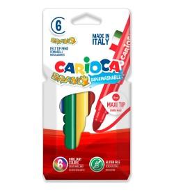 Carioca Bravo Süper Yıkanabilir Keçeli Boya Kalemi 6lı