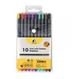 Adel Fineliner 10 Renk Karışık