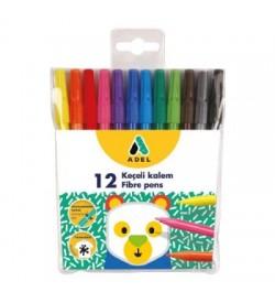 Adel Keçeli Kalem 12 Renk