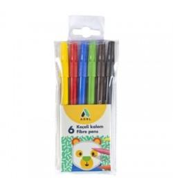 Adel Keçeli Kalem 6 Renk