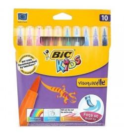 Bic Visa Fırça Uçlu Keçeli Boya Kalemi 10lu Kutu