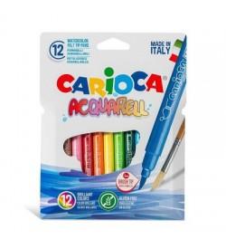 Carioca Acquarell Fırça Uçlu Keçeli Boya Kalemi 12 Renk