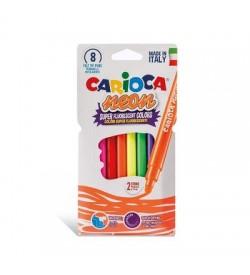Carioca Neon Yıkanabilir Keçeli Boya Kalemi 8 Renk