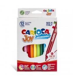 Carioca Joy Süper Yıkanabilir Keçeli Boya Kalemi 12li