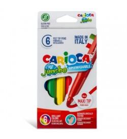 Carioca Jumbo Süper Yıkanabilir Keçeli Boya Kalemi 6lı