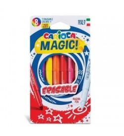 Carioca Silinebilen Sihirli Keçeli Boya Kalemi 7 Renk+1 Düzeltici Beyaz Kalem