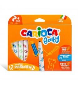 Carioca Çocuk Yıkanabilir Keçeli Boya Kalemi 12 Renk