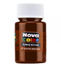 Nova Color Kumaş Boyası Kahve Şişe